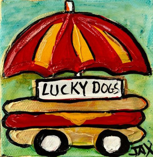 Lucky dogs mini painting