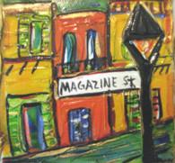 Magazine St. mini painting