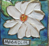 Magnolia mini painting