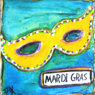 Mardi Gras Mask mini painting