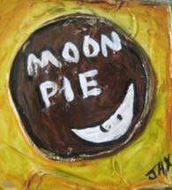 Moon Pie mini painting