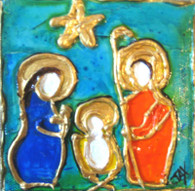 Nativity Scene mini painting