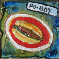 Po-Boy mini painting