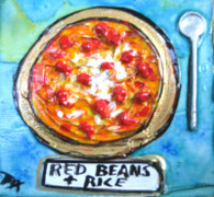 Red Beans & Rice mini painting