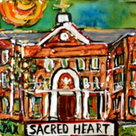 Sacred Heart mini painting