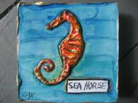 Seahorse mini painting