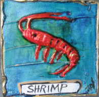 Shrimp mini painting