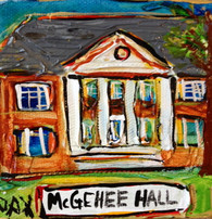 SLU - McGehee Hall mini painting