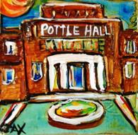 SLU - Pottle Hall mini painting