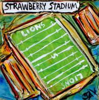 SLU - Strawberry Stadium mini painting