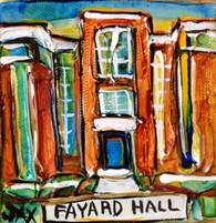SLU -Fayard Hall mini painting