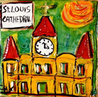 St. Louis Cathedral mini painting