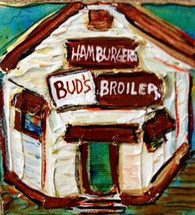 Bud's Broiler mini painting