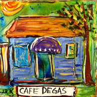 Cafe Degas mini painting