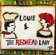 Louis & the Redhead Lady mini painting