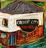 Crescent City Steaks mini painting