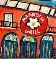 Magnolia Grill mini painting