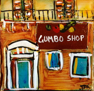 Gumbo Shop mini painting