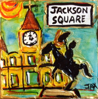 Jackson Square - statue view - mini painting