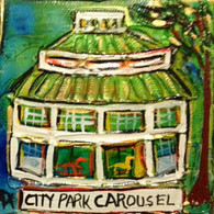 City Park Carousel mini painting