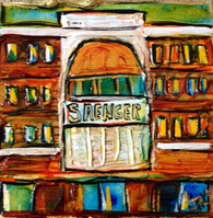 Saenger Theater mini painting