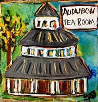 Audubon Tea Room mini painting