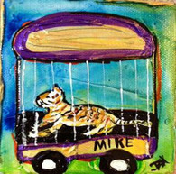 LSU - Mike the Tiger mini painting