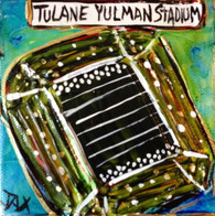 Tulane Stadium Mini Painting