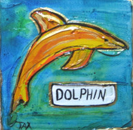 Dolphin Mini Painting