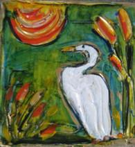 Egret Mini Painting