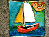 Sail Boat Mini Painting