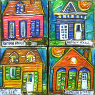 Shotgun Houses - a collection of 4 mini paintings