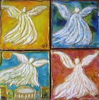 Angels - Collection of 4 mini Angel paintings