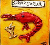 Shrimp Cocktail Mini Painting