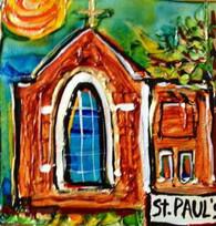 St. Paul's Episcopal Church Mini Painting