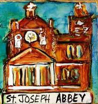 St. Joseph's Abbey Mini Painting