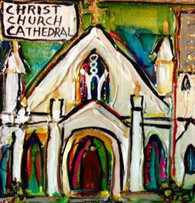 Christ Church Cathedral Mini Painting
