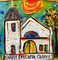Christ Episcopal Chapel Mini Painting