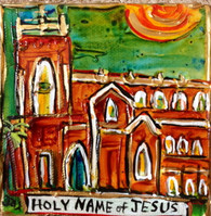 Holy Name of Jesus Mini Painting