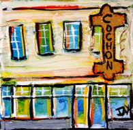 Cochon Restaurant Mini Painting
