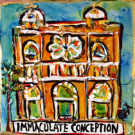 Immaculate Conception Church Mini Painting