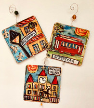 Ornaments set - New Orleans - Streetcar, New Orleans & Jackson Square