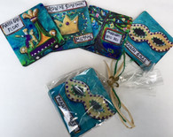 Coasters in a Bag - Mardi Gras Set