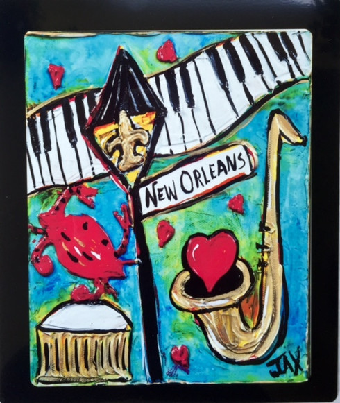 New Orleans Floating Metal Print
