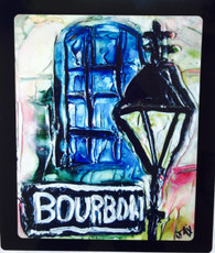 Bourbon St. - Floating Metal Print