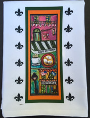 New Orleans Restaurants Tea Towel