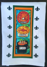New Orleans Food Tea Towel