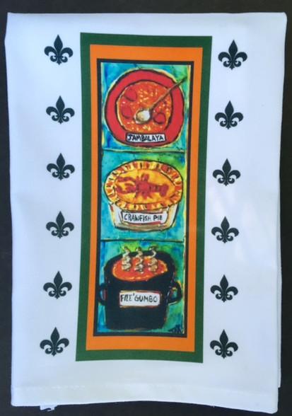 New Orleans Food Tea Towel