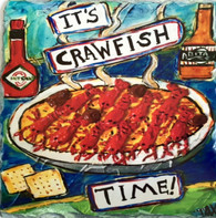 It's Crawfish Time Slate Trivet