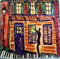 Piano Sidewalks in the French Quarter Slate Trivet